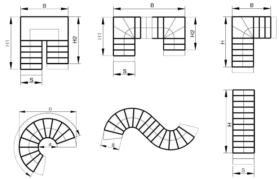 Metāldarbnīca rasejumi moduļu kāpnes