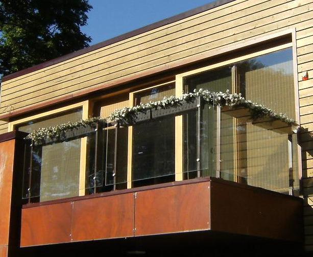 Metāldarbnīca Stikla-Margas Metāla - stikla balkona margas