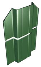 Metāldarbnīca image004 Žogi no profilētiem metāla dēlīšiem