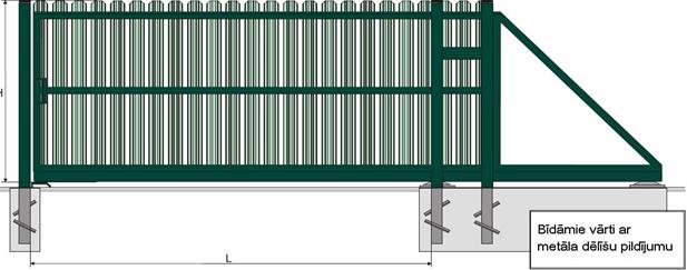 Metāldarbnīca image011 Žogi no profilētiem metāla dēlīšiem