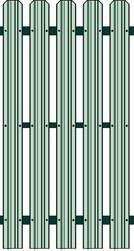 Metāldarbnīca image012 Žogi no profilētiem metāla dēlīšiem