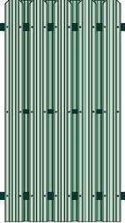 Metāldarbnīca image014 Žogi no profilētiem metāla dēlīšiem