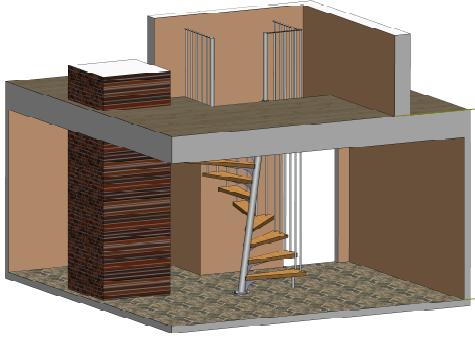 Metāldarbnīca 1-kv.m-kāpnes-vietu-ekonomējošas 1m² kāpnes