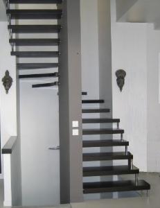 vītņu metāla kāpnes