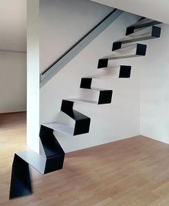 Dizaina kāpnes pārmaiņus pakāpiena vietu taupošas
