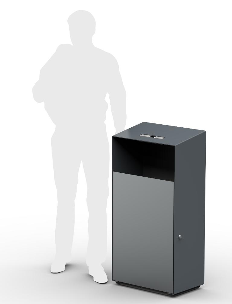 Metāldarbnīca Lean-line-urna-jaunā-3 Atkritumu urna 12202